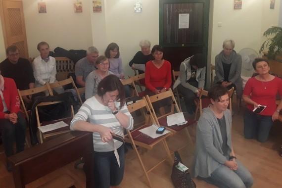 Spotkanie modlitewne w Hospicjum Palium